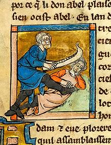Caïn tuant Abel avec une mâchoire d'âne