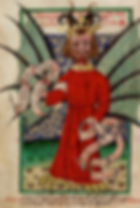 démon médiéval peinture anglaise
