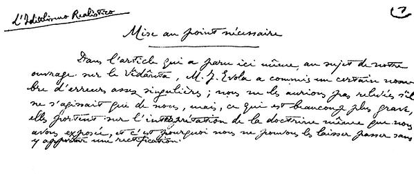 Article René Guénon