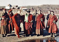 Lamas mongols à Urga