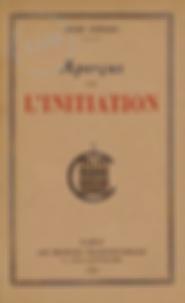 Aperçu sur l'initiation Guénon