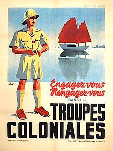 affiche engagez-vous troupes coloniales