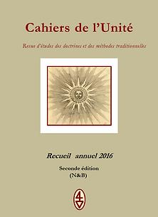 Cahiers de l'Unité Recueil 2016 N&B