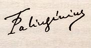 Signature de T Palingénius. Guénon