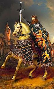 Le roi Arthur par le peintre Howard David Johnson