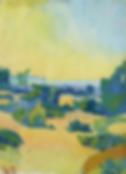 Paysage de l'île de Gotland par Aguéli