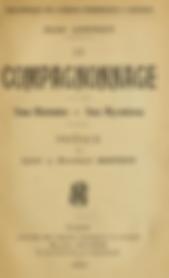 Le Compagnonnage. Jean Connay