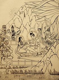 Shiva et Pârvatî au mont Kailash