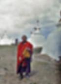 Lama à Gandan (Autochrome Albert Kahn)