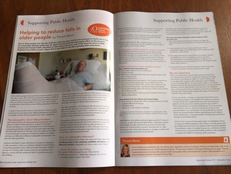 Article in Osteopathy Today