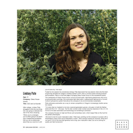 Glass House Grown's Lindsey Pate in Marijuana Venture's 40 under 40 issue.