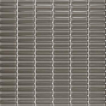 Grey Glossy Stacked Mosaic