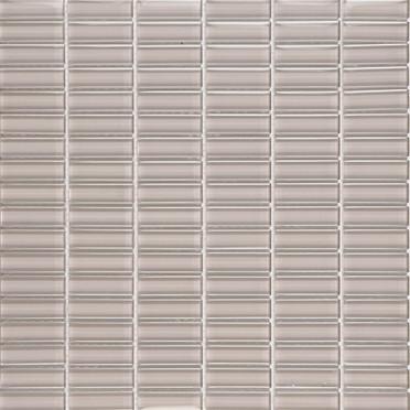 Dove Grey Glossy Stacked Mosaic