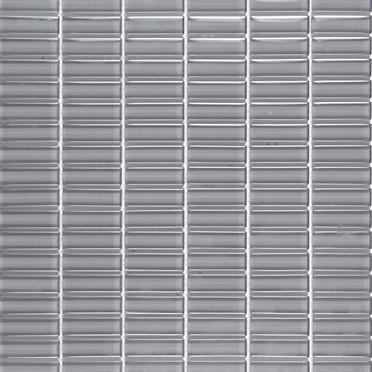 Charcoal Grey Glossy Stacked Mosaic