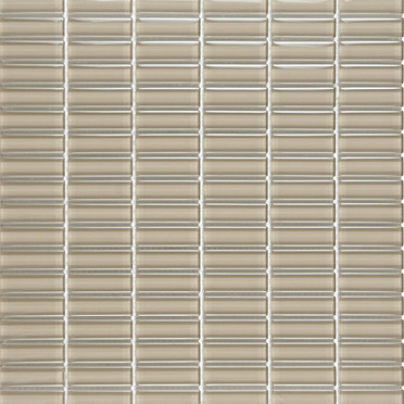 Taupe Glossy Stacked Mosaic