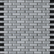 Charcoal Grey Blend Bricked Mosaic