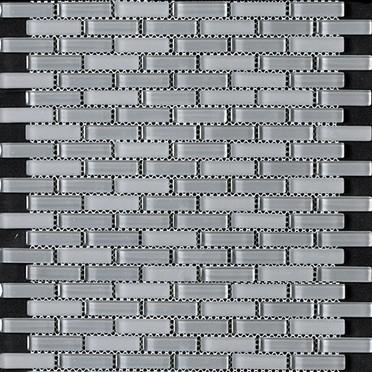 Charcoal Grey Blend Bricked Mosaic