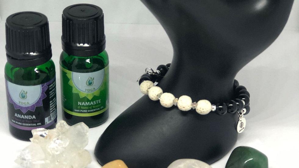 Handcrafted Essential Oil Gemstone Bracelets