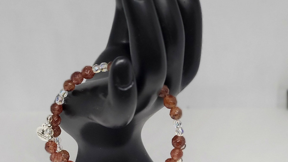 High Energy Muscovites Gemstone Bracelet with Reiki Healing Charms