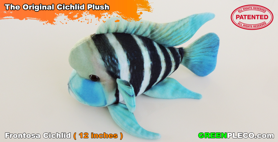 Green Pleco Frontosa Cichlid Plushie