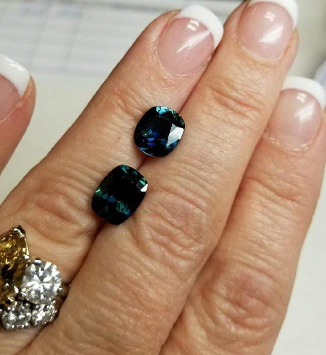 Trending now!!! Teal Sapphires.