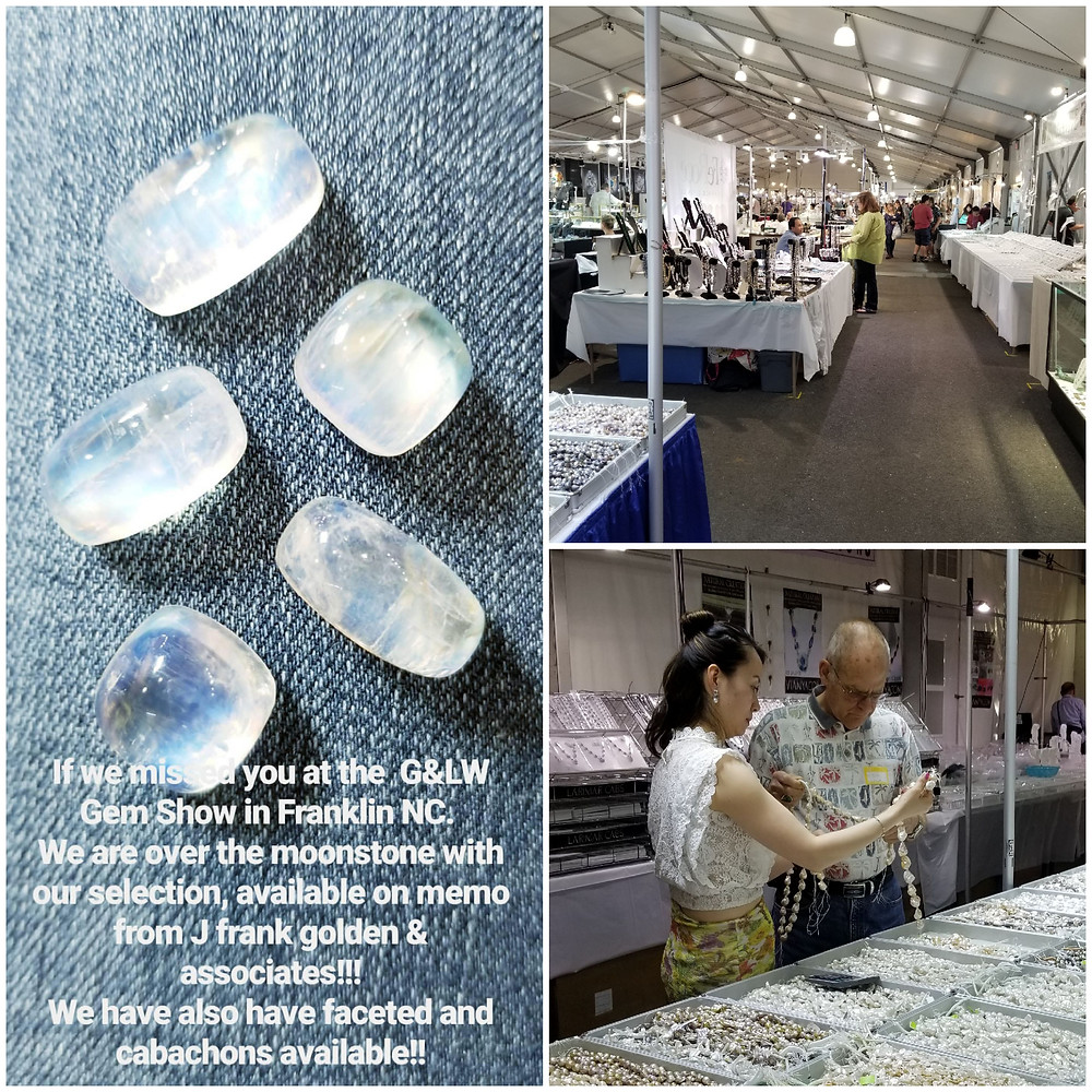 Frank and Daughter Dena visited the G & LW Gem show in Franklin, NC last weekend, spending time together is something they enjoy!!!! What a better way to do it, sharing their passion for discovring new finds and information, they learned that Mooonstone, Morganite and AquaMarine was the star of the show!!!!