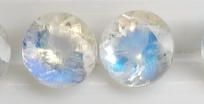 Faceted Rainbow Moonstone