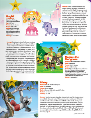 Magnus the Mongoose the series featured in Global TV mag