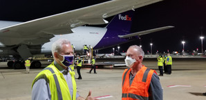 FedEx Loading and Sending their donated