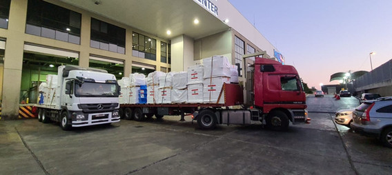 Pallets Headed to Distribution Center