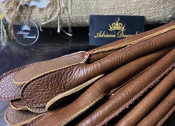 Alças de couro legítimo  - par