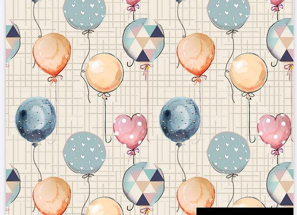 Tecido balões digital