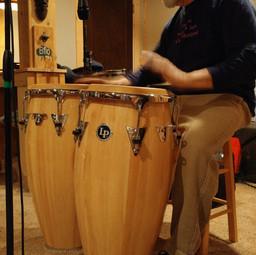 Recording the conga