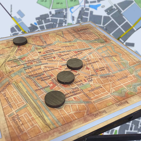 Map with RFID escape room puzzle