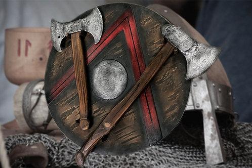 Weapon shield escape room device