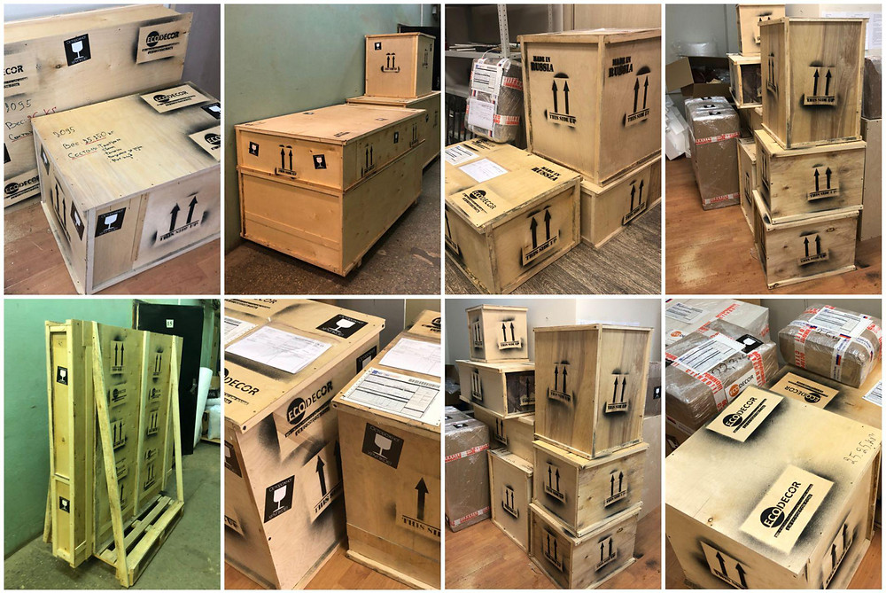 Shipping boxes (escape room supplier)