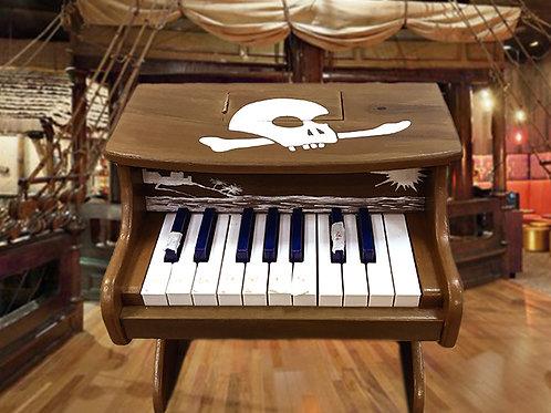 Piano with a box escape room prop