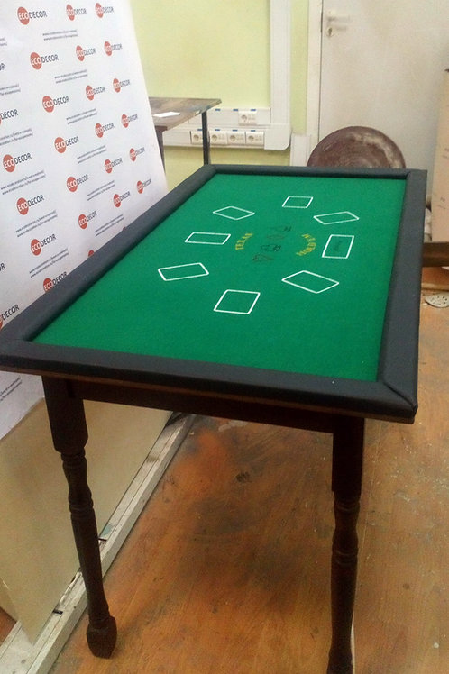 Poker table escape room decoration