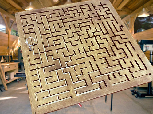 "Wooden maze (""ways"") escape room puzzle"