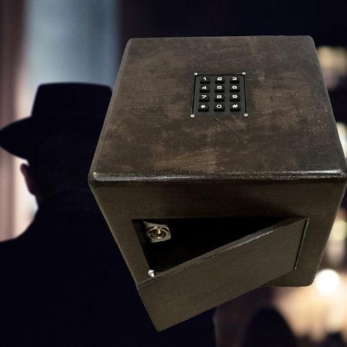 Right code opens a box (keypad), code box escape room puzzle