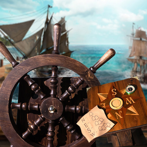 Compass and steering wheel puzzle