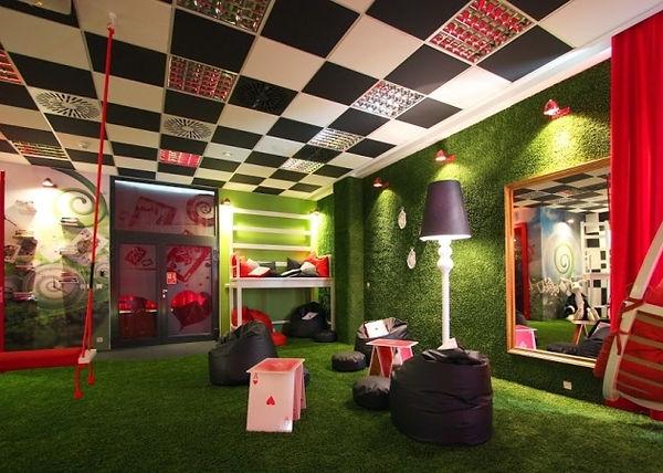 "Readyto play escae room ""Following the white rabbit"". Alicein wonderland escape room, interior idea"