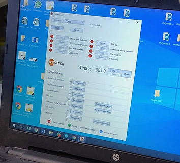 Escape room control program (software) for laptop/PC