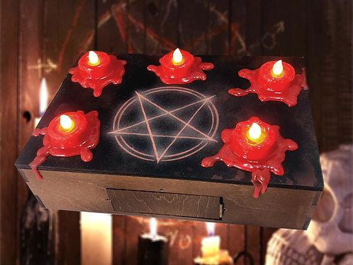 Candle Cache escape room prop