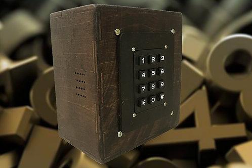 Keypad box escape room puzzle