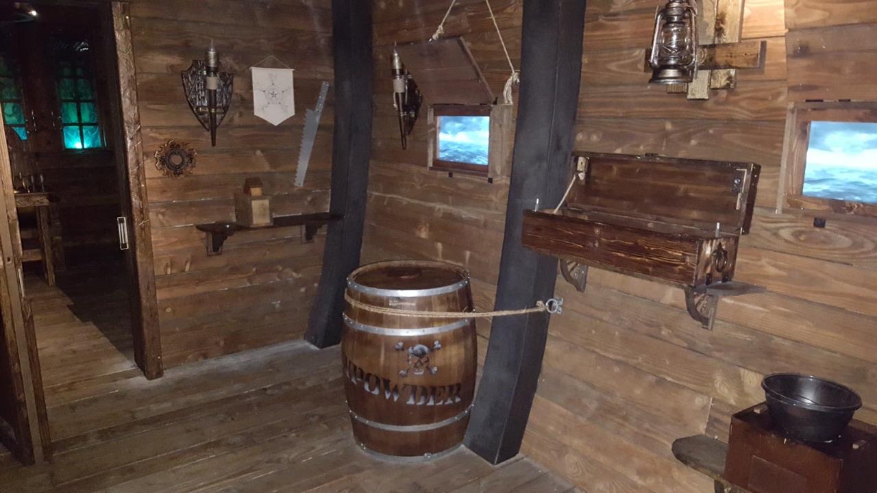 Pirate escape room interior
