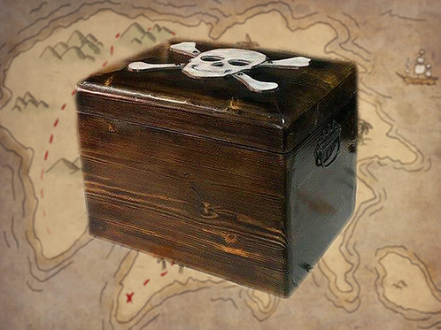 Chest with treasures escape room puzzle