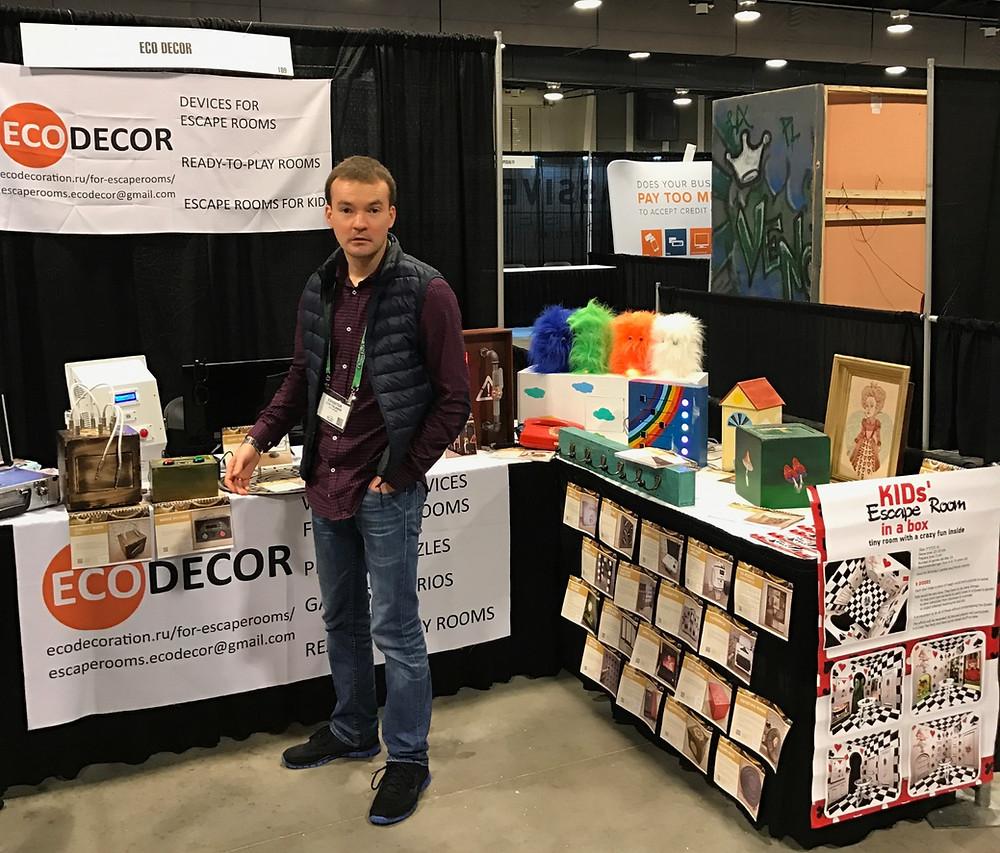 EcoDecor booth at REC