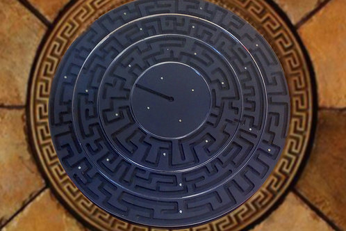 Round maze (rings, with electronics) escape room puzzle