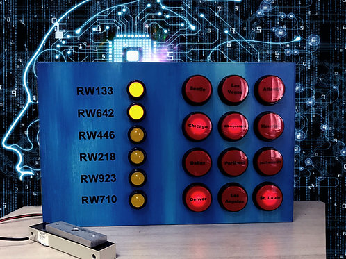 Brainteaser with lights escape room puzzle